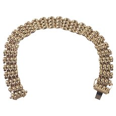 14K Yellow Gold Panther Link Bracelet
