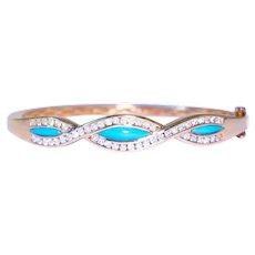 14k Yellow Gold Bypass Diamond Bracelet