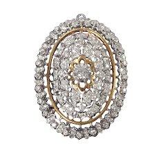 18K White and Yellow Gold Diamond Pin/Pendant