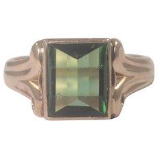 Antique 14k Yellow Tourmaline Ring