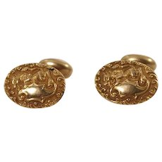 Antique 14k Yellow Gold Cufflinks