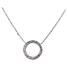 Platinum Diamond Circle Pendant