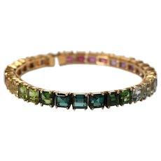 18k Yellow Gold Multi Stone Bracelet