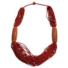 Multi Strand Coral Necklace