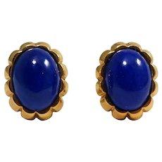 Cellino 18k Yellow Gold Lapis Earrings