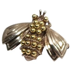 Tiffany & Co Silver and Gold Bee Brooch