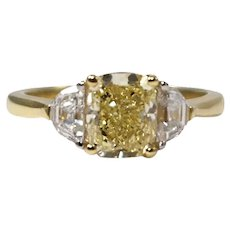 18k Yellow gold and Platinum Diamond Engagement Ring