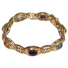 14k Yellow Gold Multi Stone Bracelet