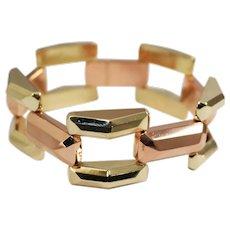Retro 14k Yellow and Rose Gold Bracelet