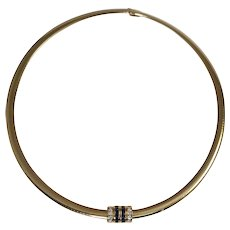 14 & 18k Yellow Gold Omega Necklace