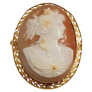 Antique 14k Yellow Gold Shell Cameo