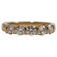 Tiffany & Co 18k Yellow Gold Diamond Band