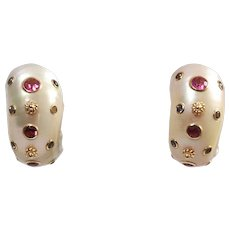 Trianon 14k Yellow Gold Shell Earrings