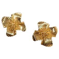 Retro 14k Yellow Gold Earrings
