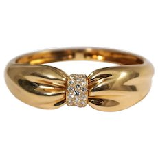 Van Cleef & Arpels 18k Yellow Gold Diamond Bracelet