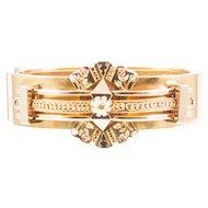Victorian 14k Yellow Gold Bangle Bracelet