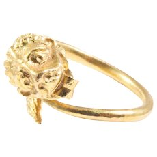 18k Yellow Gold Lion Ring