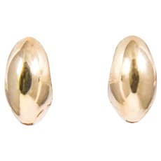 14k Yellow Gold Huggy Earrings