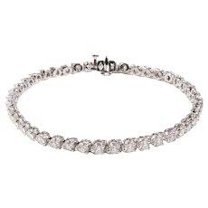14k White Diamond Bracelet