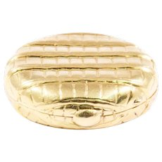 Tiffany & Co. Yellow Gold Pill Box