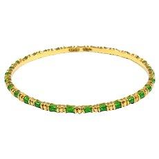 Tiffany & Co. 18k Yellow Gold and Enamel Bracelet