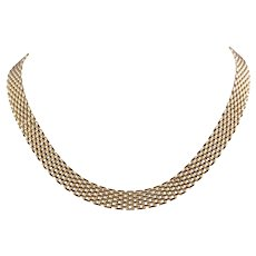 18k Yellow Gold Panther Link Necklace