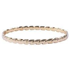 18k Yellow Gold Twisted Bangle Bracelet