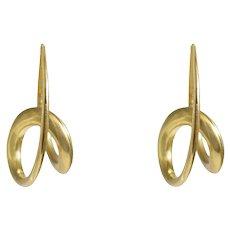 Micheal Good 18k Yellow Gold Hoop Earrings