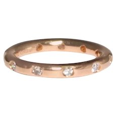 Tiffany and Co. 18k Rose Gold Diamond Band