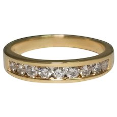 14k Yellow Gold Diamond Channel Set Band