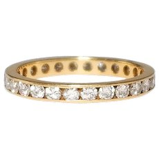14k Yellow Gold Channel Style Diamond Eternity Band