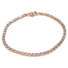 14k Yellow Gold Diamond Straight Lined Bracelet
