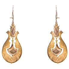 Antique 14k Yellow Gold Earrings