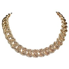 Retro 14k Yellow Gold Rope Style Necklace