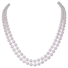 Tiffany & Co. 18k Yellow Gold Double Strand Pearl Necklace