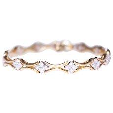 18k Yellow Gold Diamond Flexible Link Bracelet