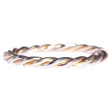 18k Yellow, White and Rose Gold Bangle Bracelet