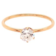 Antique 18K Yellow Gold Diamond Engagement Ring