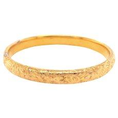 Antique 14k Yellow Gold Bangle Bracelet