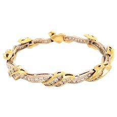 18k Yellow and White Gold Diamond Bracelet