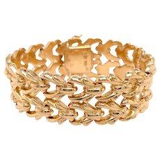 Retro 18k Yellow Gold Bracelet