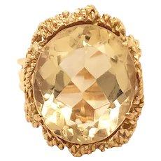 H. Stern 18k Yellow Gold Citrine Ring