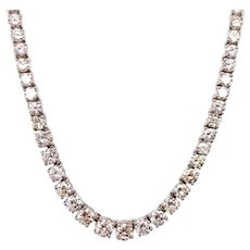 14k White Gold Diamond Necklace