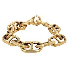 A.G.A. 14K Yellow Gold Anchor Link Bracelet