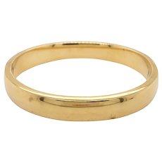 18k Yellow Gold Bangle Bracelet
