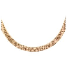 14k Yellow Gold Vintage Mesh Necklace