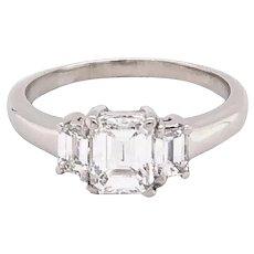 Platinum Three Stone Style Diamond Engagement Ring