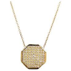 14k Y/G Diamond Necklace