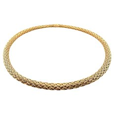 18K Yellow Gold Woven Necklace