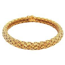 18k Yellow Gold Woven Bracelet
